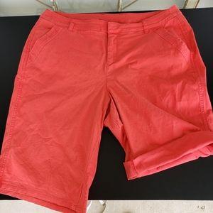 Lane Bryant coral shorts size 16